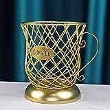 ZHURGN Taza del organizador de café, caja de almacenamiento de café, cápsula de café, cesta de almacenamiento de la cápsula de la cápsula de la taza de la taza de k forma negra, para el restaurante de