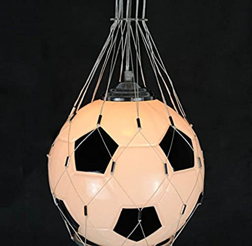 Chambre Lamp Chambre Chambre lumièreing Suspension de l'éclairage de verre voituretoon Creative Football Chandelier enfants
