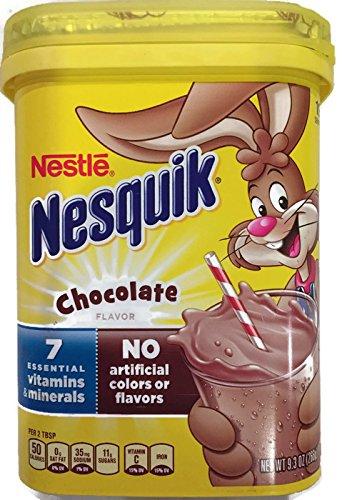 NesQuik Chocolate Drink Mix Powder, 9.3 Oz (Pack of 2)