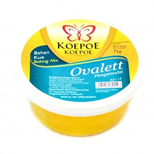 Koepoe-koepoe Baking Mix Ovalett Emulsifiers 75 Gram (2.64 Oz) Ovalette (Pack of 2)