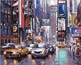 AGjDF Ocupado Nueva YorkDIY Digital Lienzo Pintura-Lienzo preimpreso-óleo Regalo para Adultos Niños Pintura por Numero Kits Decoración del Hogar_40x50cm