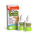 Saline Nose Drops for Infants and Kids by Boogie Drops, Safe for Newborn Baby, Allergy Relief, 1 Box Contains 2 Bottles