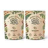ChocZero's Keto Bark, Dark Chocolate Pecan, No Added Sugar, Low Carb, No Sugar Alcohols, No Added Sugar, (2 bags, 12 servings)