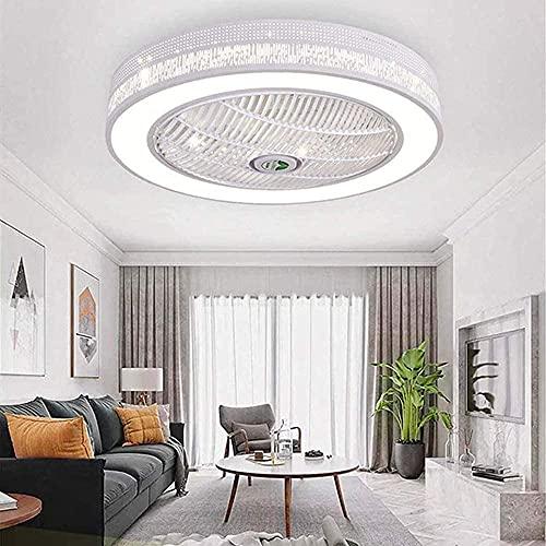 Lampada da soffitto a ventaglio a LED con illuminazione lussuosa camera da letto moderna regolabile con telecomando plafoniere invisibile silenzioso ventilatore a soffitto silenzioso luce dimmerabile