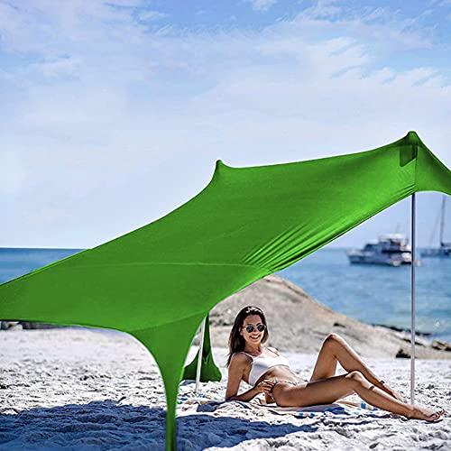 XCUGK Pop Up Carpa de Playa Refugio Playa con Parasol portátil y liviano con Ancla de Arena para Acampar en Familia al Aire Libre Ligero
