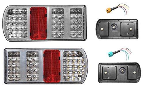 DC FEU 43 LED arrière Gauche + Droit - 6 Fonctions - 12v 24v Auto Caravane remorque