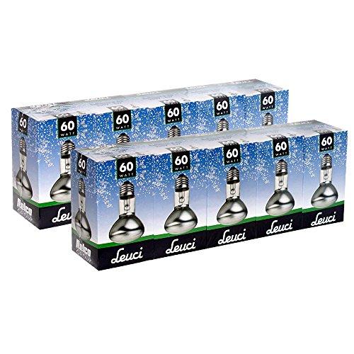 10 x Leuci Reflektor Glühbirne R63 60W E27 matt Glühlampe 60 Watt Glühbirnen Glühlampen Reflektoren