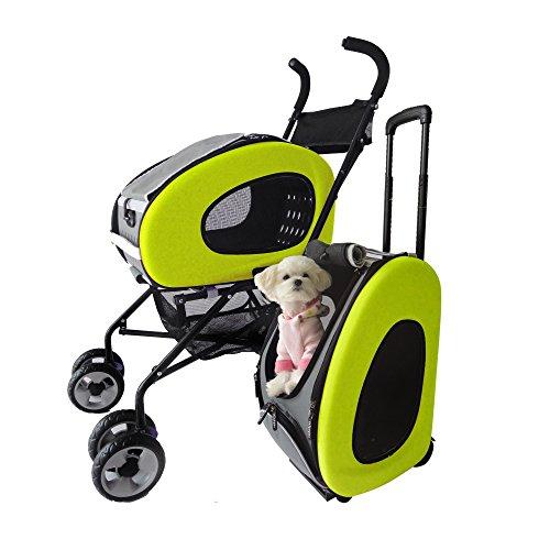 Innopet Cochecito para Mascotas, IPS-020 Verde, Cochecito para Perros, con...