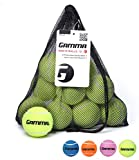 Gamma Bag of Pressureless Tennis Balls - Sturdy & Reuseable Mesh Bag with Drawstring for Easy Transport - Bag-O-Balls (12-Pack of Balls, Yellow)