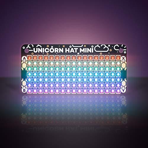 Pimoroni Unicorn HAT Mini - ユニコーン ハット ミニ - 17x7 RGB LED Matrix for Raspberry Pi