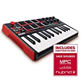 Akai Professional MPK Mini MKII | 25 Key Portable USB MIDI Keyboard With 8 Backlit Performance Ready Pads, 8 Assignable Q Link Knobs & A 4 Way Thumbstick