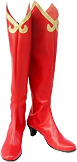 Ace Attorney 2 Phoenix Wright: Ace Attorney-Justice For All Milika Cosplay Shoes Red Boots Custom Made