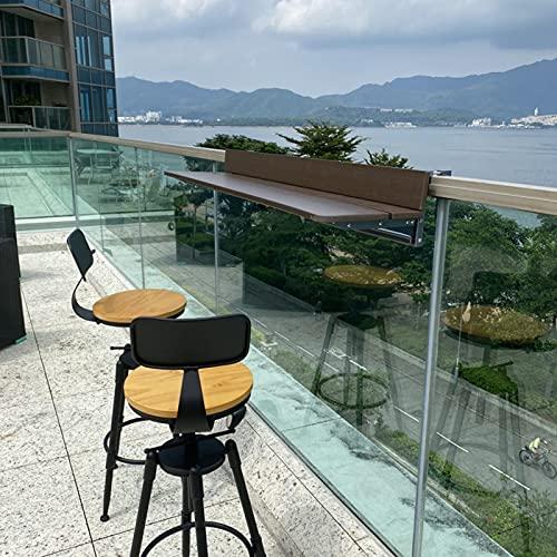 Balcón Plegable Mesa De Bar para Balcón, Mesa Plegable Colgante para El Hogar, Mesa De Ventana Larga para El Hogar, Escritorio De Madera Maciza, Estante De Ocio Simple Nórdico (Size : 120 * 37cm)