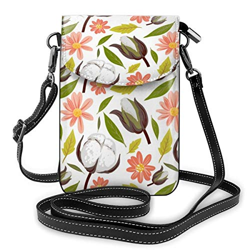 XCNGG Telefontasche Red Crowned Cranes Cell Phone Purse Crossbody Bag Pouch Shoulder Bags Wallet For Women Girls Travel Wedding