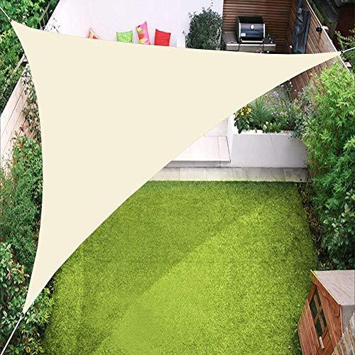 PENGMAI Sonnensegel Dreieck inkl Befestigungsseile Sonnenschutz Windschutz Wasserabweisend UV-Schutz für Garten Balkon Outdoor Terrasse Camping