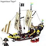 E.Brick - Navire De Pirate & Canot Aventure (307)