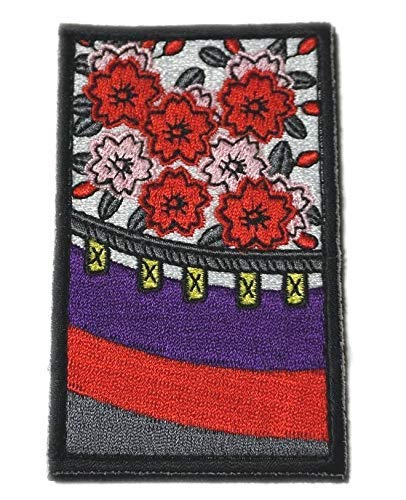 [Japan Import] 100% Embroidery Verclo Patches Japanese Playing Cards Hanafuda Hana ni maku A0369