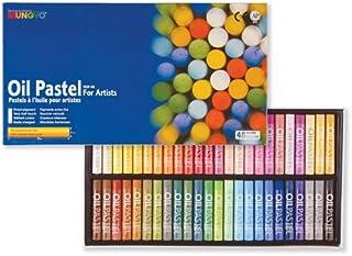 مجموعه ای از جعبه های مقوایی پاستیل روغنی گالری Mungyo از 48 رنگ استاندارد - متناسب
