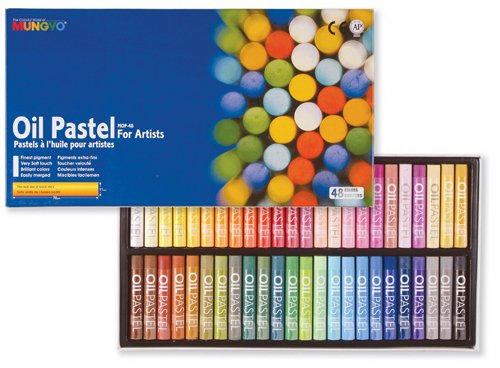 Mungyo Gallery Oil Pastels Cardboard Box Set of 48 Standard  Assorted Colors