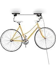 Relaxdays Soporte Bicicleta Suspensión, Adultos Unisex, Negro, 8 x 100 x 9 cm