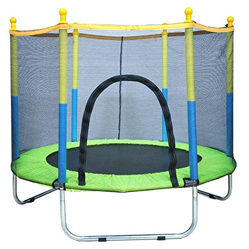 A.1.Coo Anti-Rollover Kids Trampoline with Safety Enclosure Net, Ultra Quiet U-Shaped Leg Reinforcement Trampoline Rebounder Bounce Workout for Children, Maximum Weight: 180KG