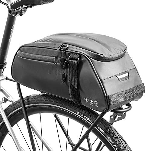 UBORSE Borsa Posteriore Cremagliera per Bicicletta, Borsa Bagagli per Bici Portapacchi Grande capacità 8L, Borsa da Viaggio Multifunzionale Riflettenti