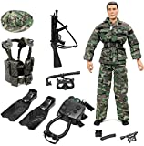 """Click N' Play Special Ops Navy Seal Swat Team 12"""" Action Figure Play Set with Accessories"""
