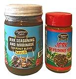 Caribbean Fusion Jamaican Jerk Seasoning - Authentic Caribbean Jerk Seasoning - Low-Sodium Gourmet Seasoning for Chicken, BBQ, Fish, Pork, Ribs, Vegetables, Burgers and Grilling Seasoning 2pk Mild
