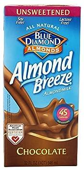 Blue Diamond Breeze Unsweetened Chocolate 32-ounces  Pack of6