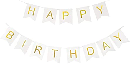 Houseables Happy Birthday Sign, Banner Decorations, 13 Flags, 41-60