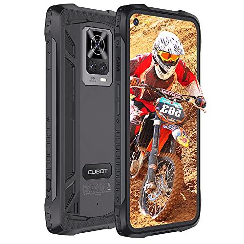 CUBOT Smartphone libre Kingkong 7 4G, pantalla HD 6,36, Android 10, 5000 mAh, cámara de 32 MP + 64 MP, 8 GB + 128 GB, SIM Triplo Slot teléfono móvil – Versión alemana (negro)