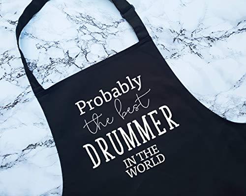 ArthuereBack Waarschijnlijk De Beste Drummer In De Wereld Schort Gift Bakken BBQ Voor Drum Player Band Lid Groep Muzikant Drummen Drum Kit