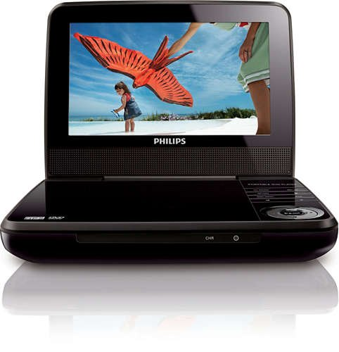 Philips 7inch Portable DVD Player PET741B
