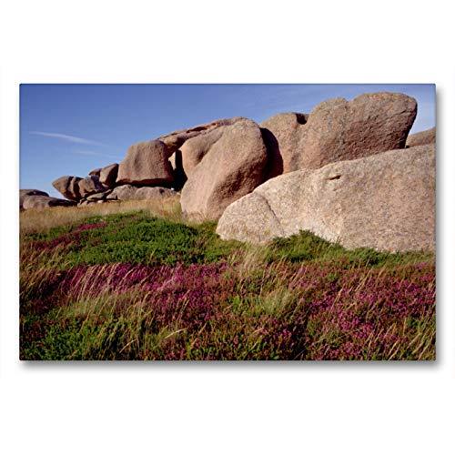Premium textiel canvas 90 cm x 60 cm dwars, een motief uit de kalender Bretagne, de Côte de Granit Rose, roze graniet in zijn mooiste vorm. | Canvas, canvasdruk (CALVENDO plaats);CALVENDO plaatsen