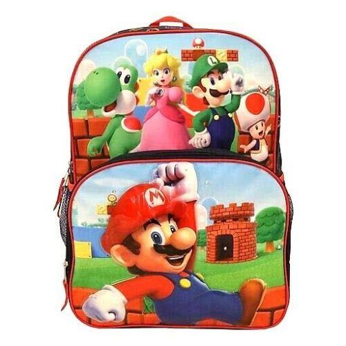 Super Mario Light Up Backpack School Bookbag