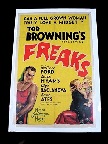 FREAKS 1932 TOD BROWNING 27 x 41 ONE SHEET CLASSIC HORROR EXTREMELY RARE!!