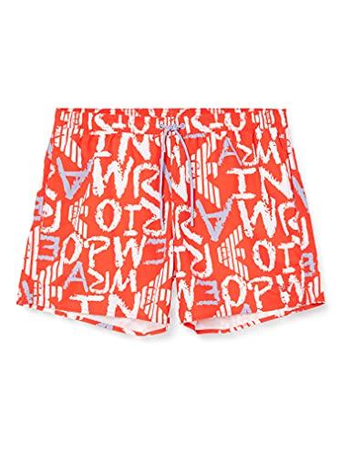 Emporio Armani Swimwear Boxer all Over Tonal Logo Costume da Bagno, Black, 56 Uomo