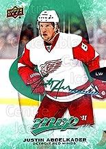 (CI) Justin Abdelkader Hockey Card 2016-17 Upper Deck MVP Green 150 Justin Abdelkader
