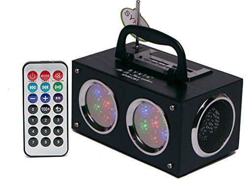 Sykik Mini Bluetooth Boom Box with Dancing Light Show