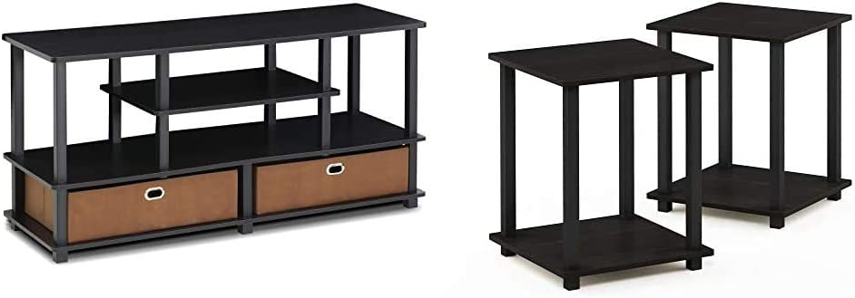 Furinno Jaya TV Stand Limited time trial price Black Espresso Soldering End Bl Simplistic Table