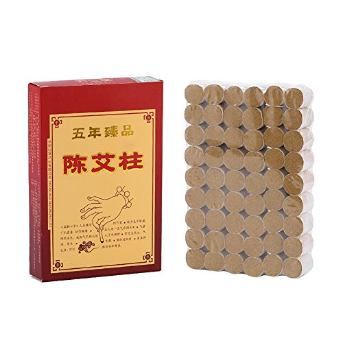 ZJchao 54Pcs Pure Moxa Rolls Sticks Wormwood Leaves Health Care Mild Moxibustion Pain Relief Relieve Fatigue Cold Relieve Stress Gentle Moxibustion Therapy