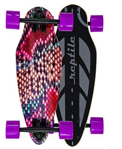 boo/G Mini Cruiser Skateboard für Kinder und Erwachsene. Die Kurven Stars mit Breiten Longboard Achsen (7 Zoll). Klein, leicht, Supercool. 11 Farben wählbar