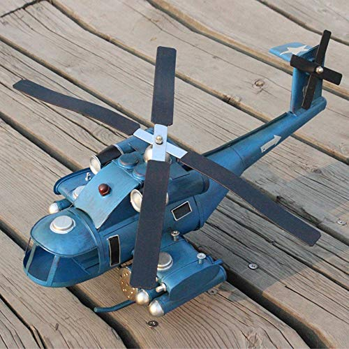 DAMAI STORE Tin Retro Kampfflugzeuge Simulationsmodell Der Kreativen Haus Geschenke Home-Dekoration-Geschenk 42 * 20 * 16cm
