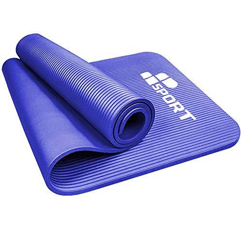 MP Sport NBR Yoga Mat 183x61x1cm – Tappetino per Esercizi - Materassino da Campeggio in Schiuma - Fitness - Pilates - Allenamento a Casa - Ginnastica - Stretch (Blue)