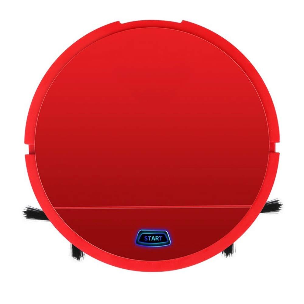Aspirador de robot inteligente USB con marcador magnético de límite Súper- silencioso, 500pa, fuerte succión para pisos duros y alfombras,Red: Amazon.es: Hogar