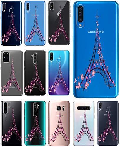 Hülle für iPhone 7 / 8 / SE 2020 Handyhülle Motiv 2383 Paris Eifelturm Frankreich Premium Silikonhülle durchsichtig mit Bild SchutzHülle Softcase HandyCover Handyhülle für iPhone 7 / 8 / SE 2020 Hülle