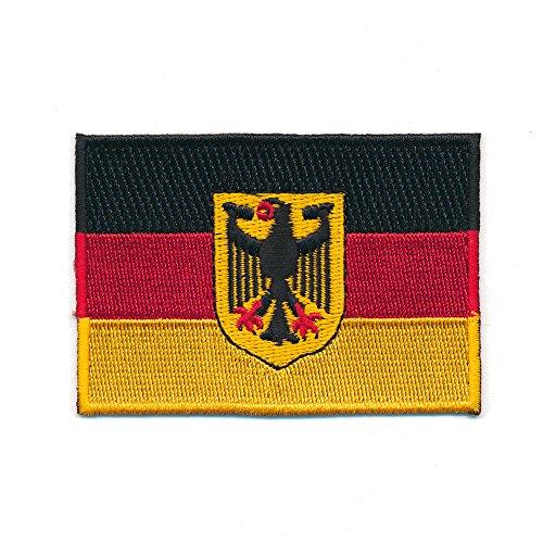 hegibaer 60 x 35 mm Deutschland Flagge Berlin Germany Flag Patch Aufnäher Aufbügler 0626 B