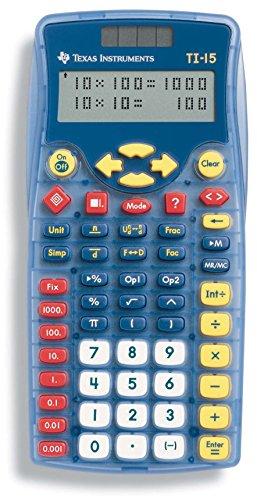 Texas Instruments TI-15 Explorer Elementary Calculator (Renewed)