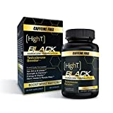 High T Black Caffeine Free- Total Testosterone Booster - Naturally Enhances Stamina, Endurance, Strength and Energy. Builds Muscle with the new Vaso6 formula (120 Count)