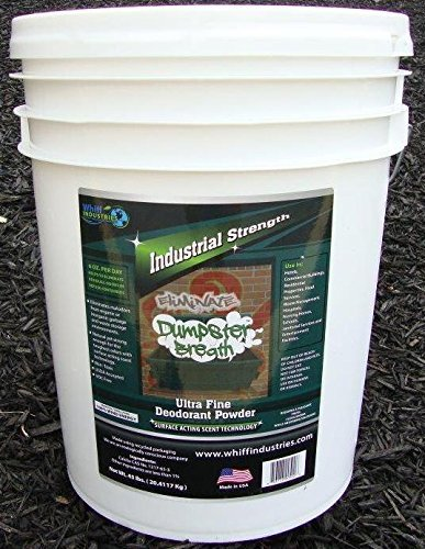 Dumpster Breath Heavy Duty Commercial Odor Control Ultra Fine Deodorant Powder for Eliminating Odors in Dumpsters Trash Cans & Anywhere Residual Odors Can Occur - 5 Gallon Bucket (45lbs.)